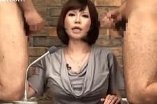 「アナタの臭いチンポしゃぶりたい〜」ニュースキャスターが卑猥な淫語ニュースを連呼!