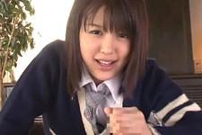 「もう一回見せて精子が出るところ〜」美少女JKが関西弁で言葉責めしながら主観で連続手コキ抜き!葵つかさ