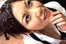 「臭いザーメン最高〜まだして欲しいの〜」美人OLがセクハラ上司を叱りつけ連続手コキ抜きでザーメン浴びまくり!