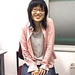 光●靖子似の眼鏡素人娘のセンズリ鑑賞